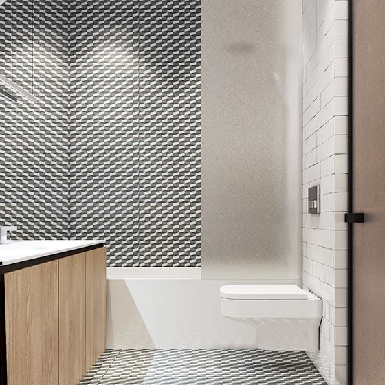 50㎡现代单身公寓卫生间构造图