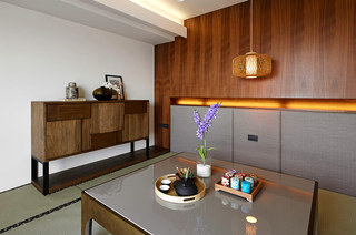 200平简约复式楼茶室装潢图