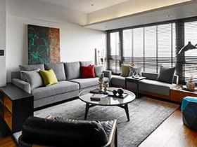 200平现代简约风格公寓效果图 木香沁脾