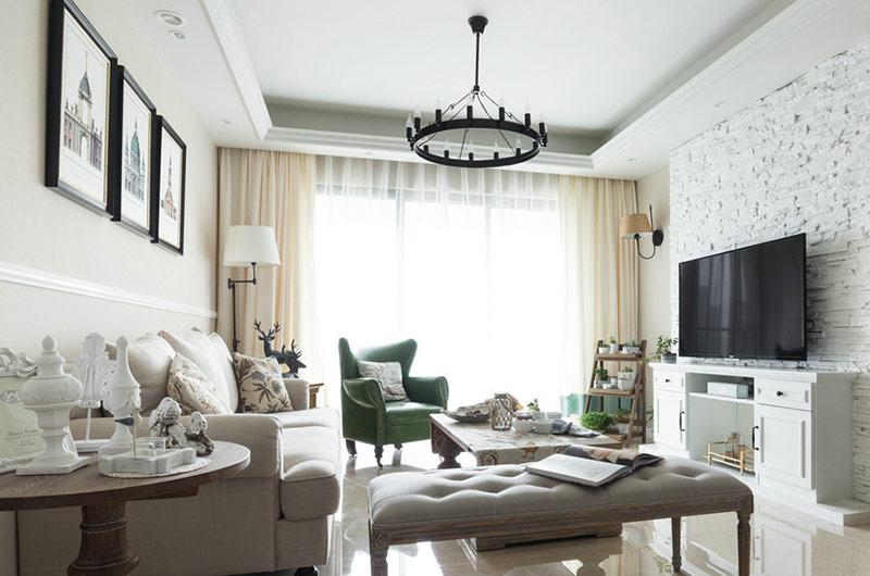 优雅质感美式客厅装饰大全