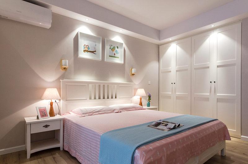 浪漫北欧卧室 嵌入式衣柜效果图图片