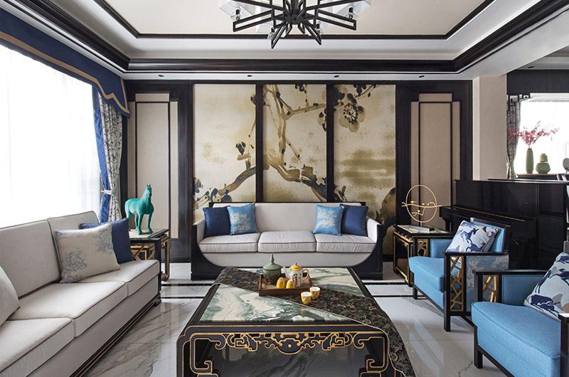 新中式风格别墅复式装修图