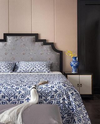 新中式风格别墅床头软包设计