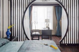 新中式风格别墅卧室隔断图