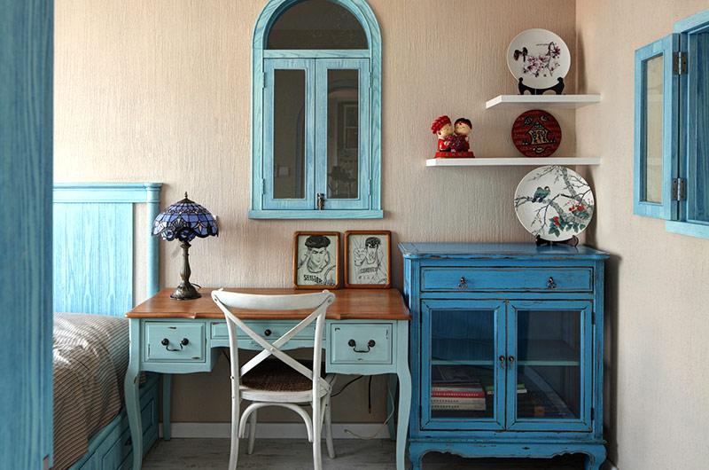 蓝色地中海风情卧室家装设计