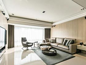 120㎡现代两居室装修图  原始自然的心