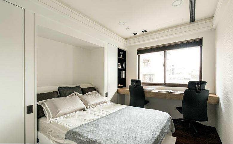 极简主义卧室效果图