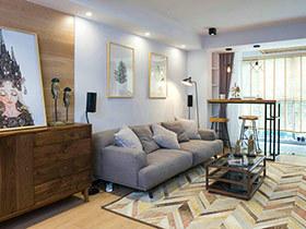 98㎡北欧风格两室两厅装修 化简合一