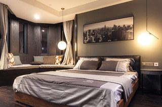 180平样板房装修主卧室效果图