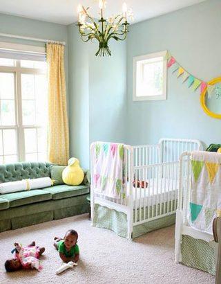 温馨婴儿房设计参考图