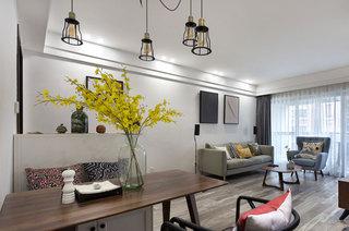 80平北欧三居室餐厅装潢设计
