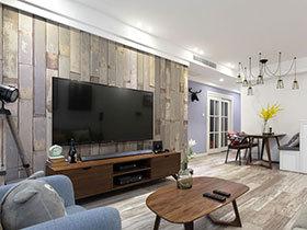 80平北欧风格三居室装修 让心灵去旅行