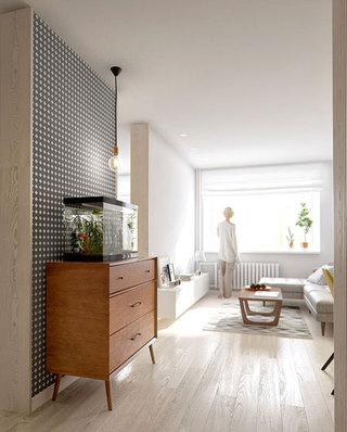 60平北欧一居室展示柜图片