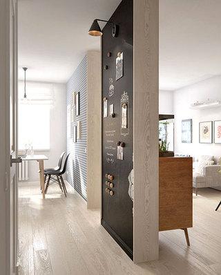 60平北欧一居室隔断墙设计