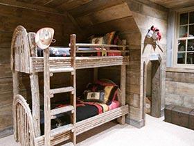 精美上下铺实景图 不平凡的儿童房