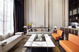 380平现代别墅客厅装潢设计