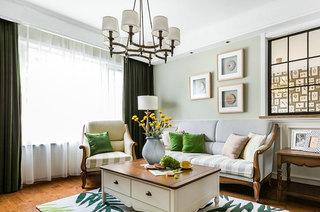 117平美式三房装修客厅效果图
