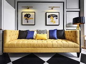 60平美式风格两室两厅装修 摩登时尚