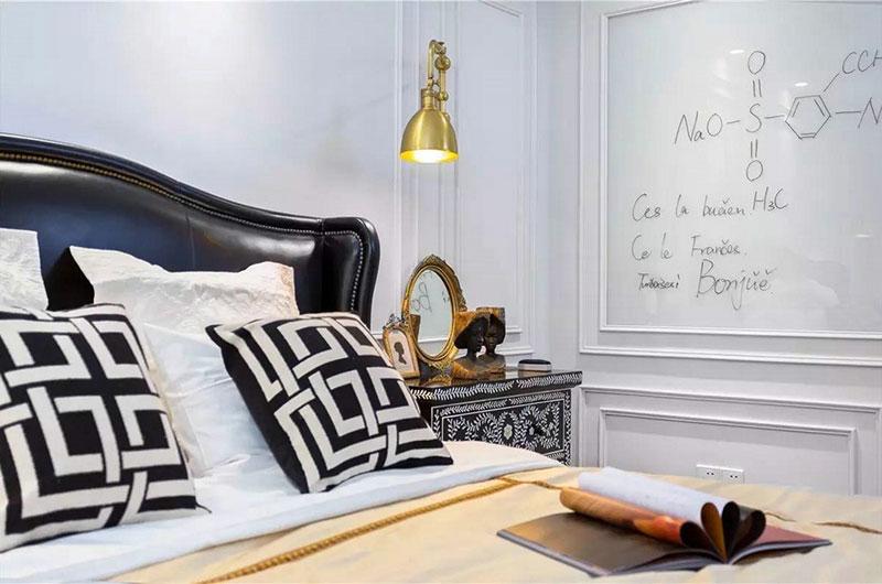 新古典风格复式装修卧室背景墙设计
