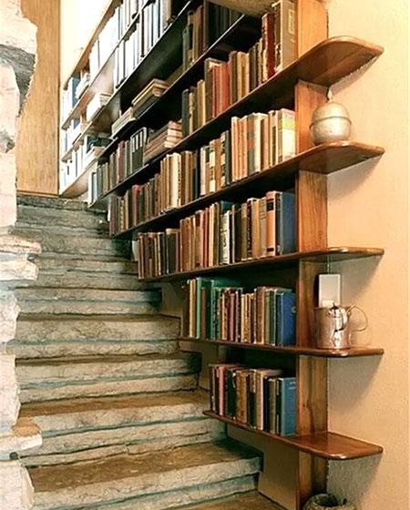 木质楼梯书架设计图装修