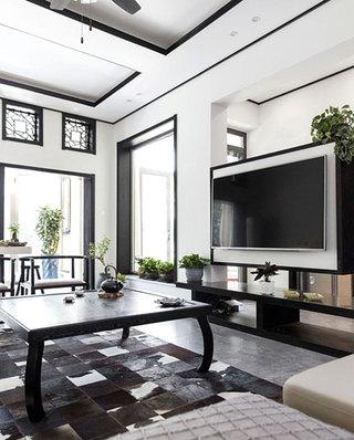 350平中式风格别墅客厅效果图