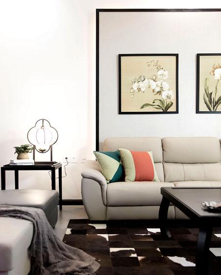 350平中式风格别墅客厅背景墙装修