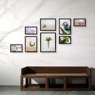 室内照片墙设计布置图片