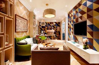 65平小户型样板房客厅效果图