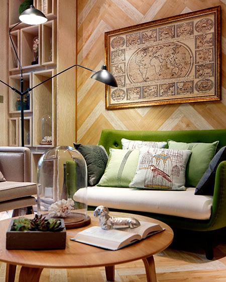 65平小户型样板房客厅沙发设计