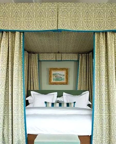 美式风格卧室床幔效果图