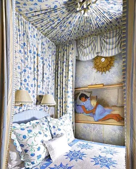 清新卧室床幔装修装饰设计