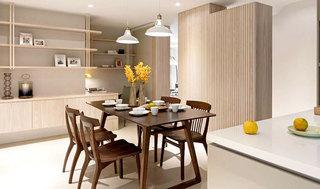 110平日式公寓餐厅装潢设计图