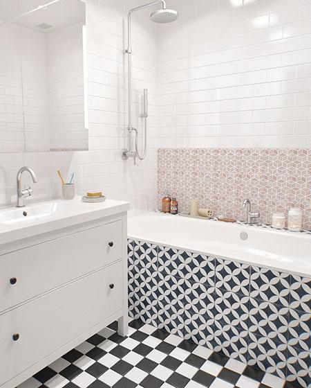 北欧波普风 马赛克洗手间设计