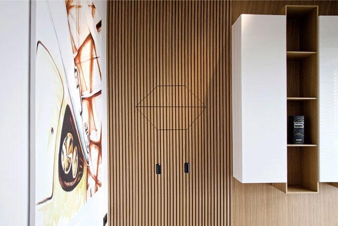 创意新中式 竹艺隐形门设计