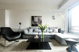 素雅北欧风情 客厅布艺沙发设计