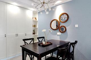 89平美式风格公寓餐厅装饰图