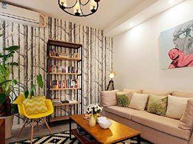 79㎡北欧现代两居室装修图   森林世界
