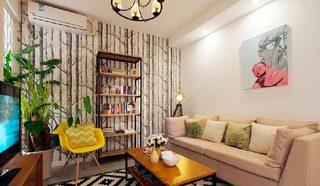 79平米北欧现代两居室装修装饰效果图