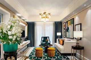 精致美式新古典客厅装饰欣赏