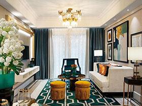 87平美式风格样板房装修 尽显精致典雅