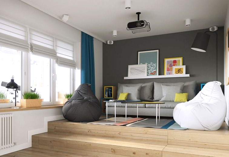 创意日式打造错层小客厅设计