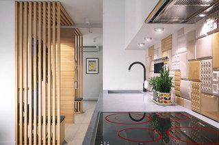 32平一居室装修开放式厨房图