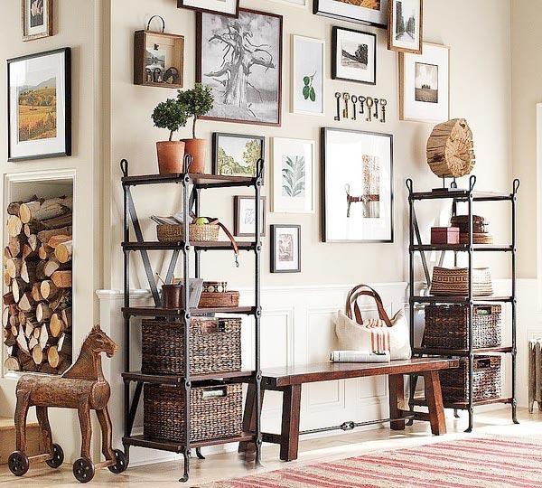现代客厅照片墙图片