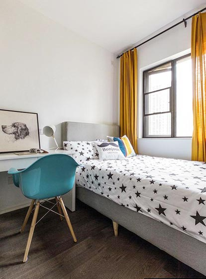 单人卧室装修平面图片