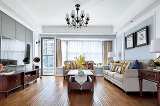 170平美式风格四房装修设计图
