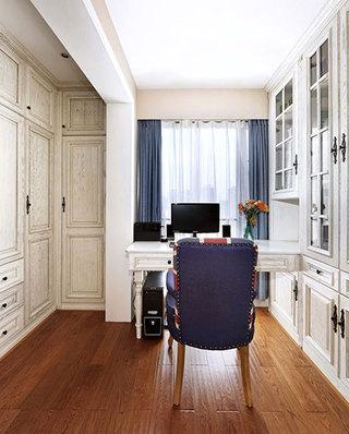 170平美式风格四房书房装潢图