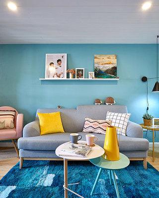 80平北欧风格二居客厅效果图