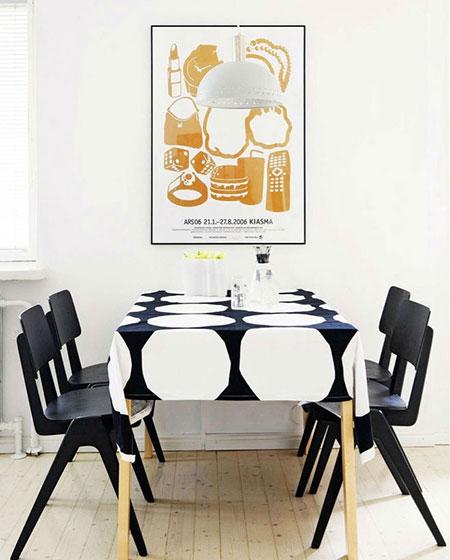 北欧风格餐厅桌布图片