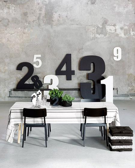 轻工业风格餐厅条纹桌布图