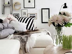 10个客厅沙发毛毯效果图 给舒适生活升温